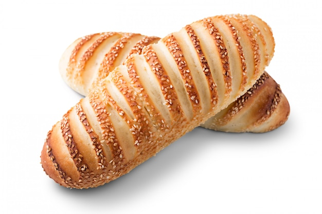 Dos panes de harina blanca