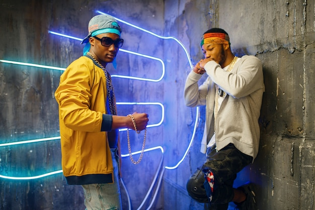 Dos raperos negros