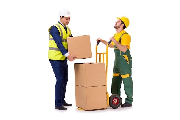 Dos trabajadores aislados