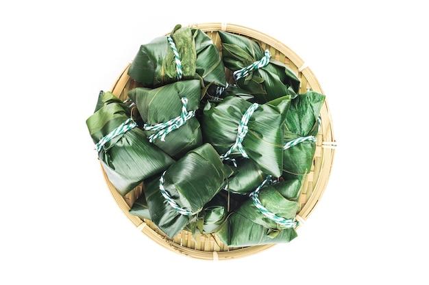 Dragon boat festival bola de masa hervida de arroz chino carne zongzi