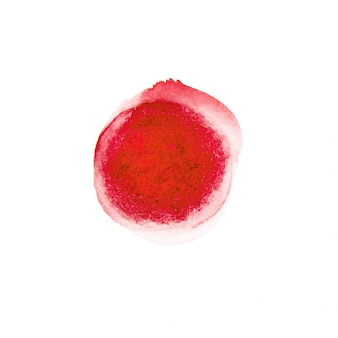 Drenaje de círculo de acuarela roja