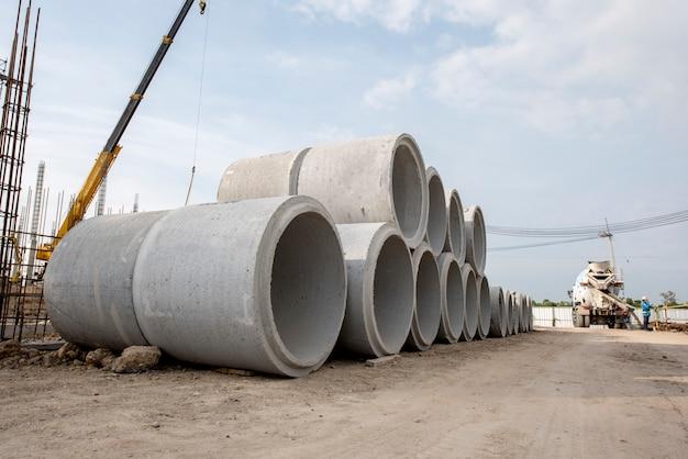 Drenaje de tubería de concreto