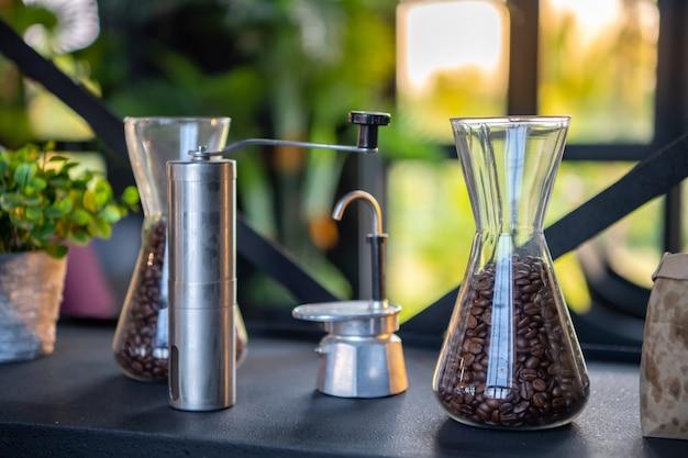 Drip coffee, aparatos para preparar café.
