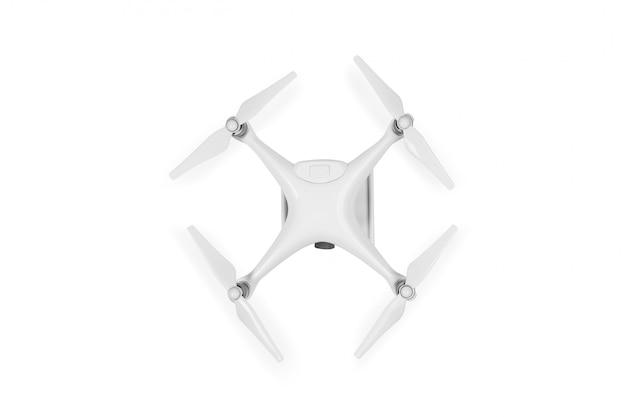 Drone aislado en un blanco