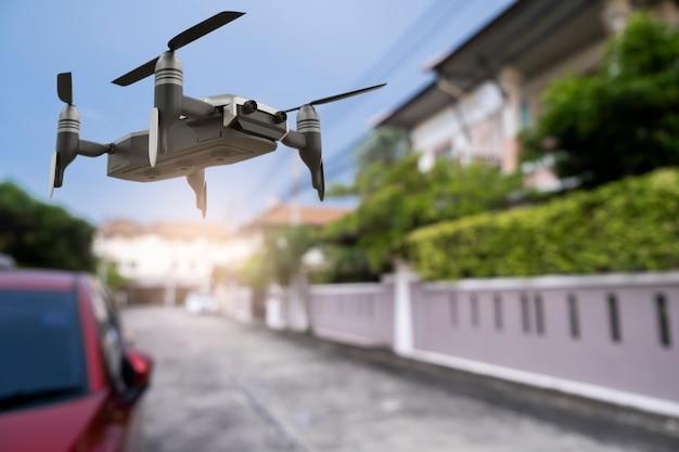 Drone tecnología ingeniería dispositivo industria volando