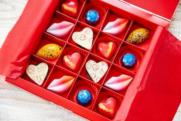 Dulce regalo para el amado. enfoque selectivo
