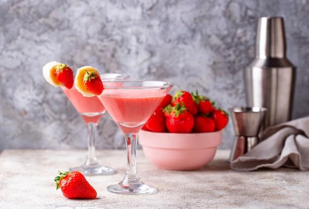 Dulce verano fresa alcoholico coctel