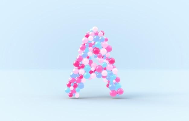 Dulces bolas de dulces letra a