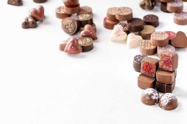 Dulces de chocolate de san valentín