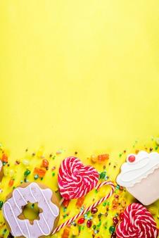 Dulces creativos, concepto de postre