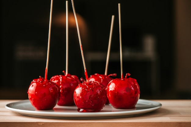 Dulces de manzana y toffee.