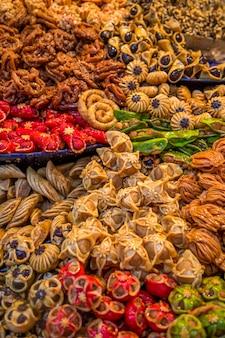 Dulces en el mercado marroquí