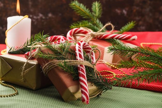 Dulces y regalos navideños de año nuevo