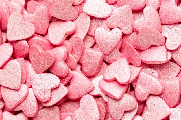 Dulces de san valentín en forma de corazón