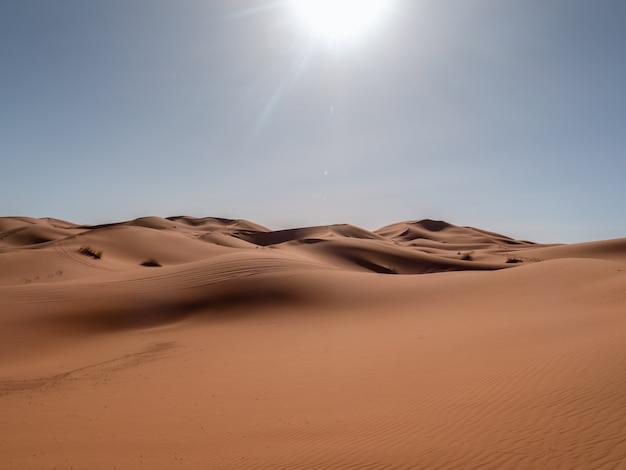 Duna en el desierto del sahara