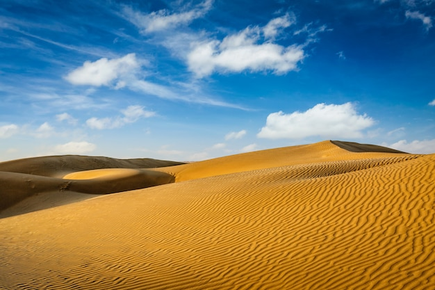Dunas del desierto de thar, rajasthan, india