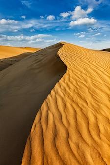 Dunas en el desierto de thar