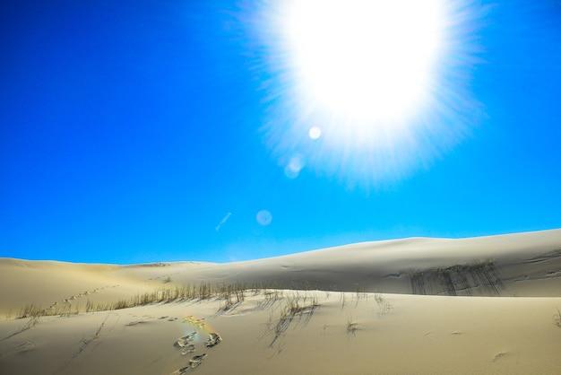 Las dunas de la playa joaquina en florianópolis tienen una de las vistas más hermosas de la isla.