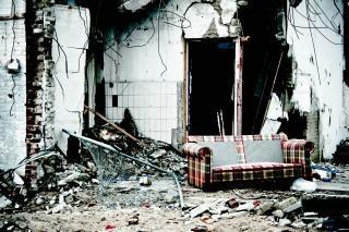 Edificio abandonado de desastres