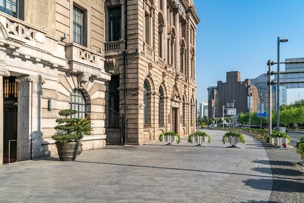 Edificio antiguo paisaje del bund de shanghai