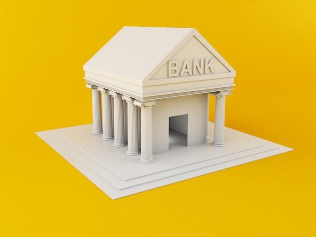 Edificio del banco 3d