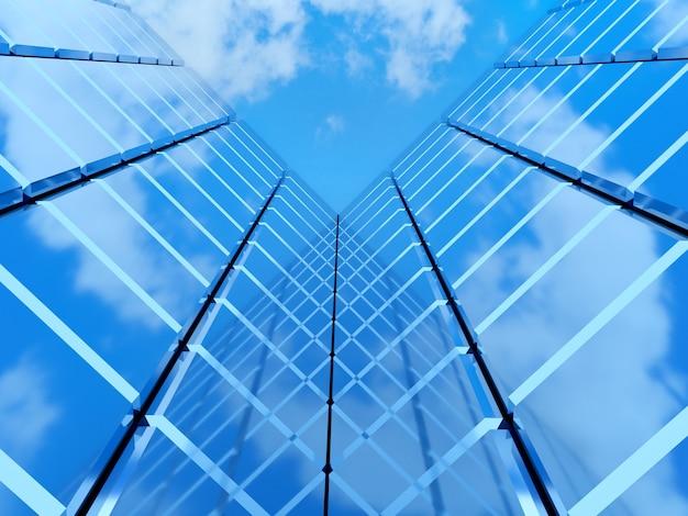 Edificio de bienes raíces financieros moderno para corporación empresarial