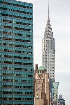 Edificio chrysler y arquitectura de manhattan