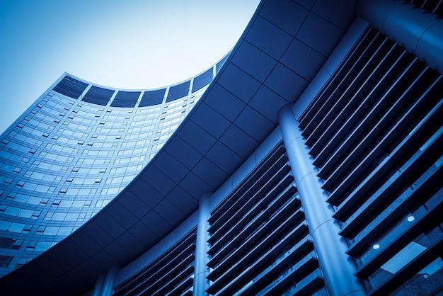 Edificio de la ciudad de raqueta de edificio de oficinas comerciales.