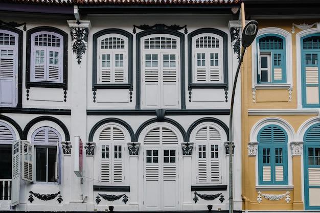 Edificio de estilo colonial en singapur.