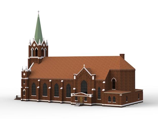 El edificio de la iglesia católica.