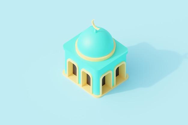 Edificio de la mezquita para el lugar de oración de la religión islámica.