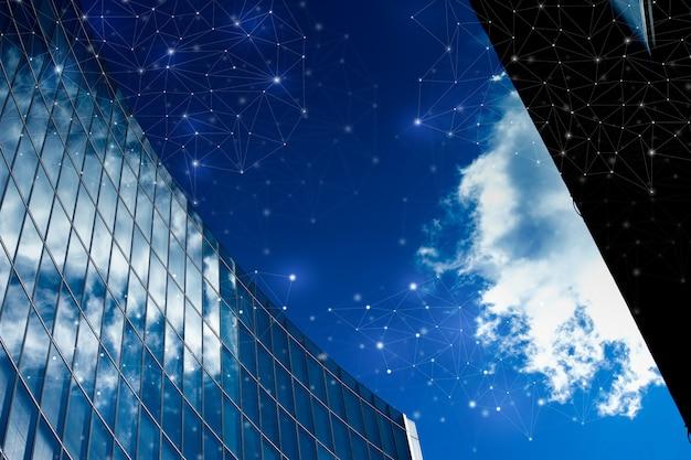 Edificio de oficinas en londres por concepto de red y futuro.