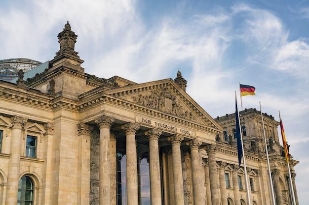 Edificio del reichstag (gobierno alemán) en berlín, alemania
