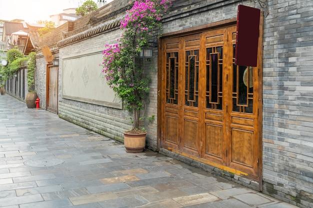 Edificios antiguos en kuan alley y zhai alley, chengdu, sichuan