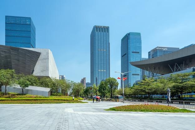 Edificios de la ciudad en el distrito urbano