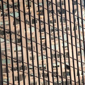 Edificios en columbus circle en manhattan, nueva york, estados unidos