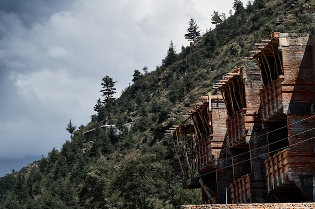Edificios de ladrillo en swat