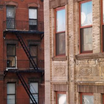 Edificios en el meatpacking district de manhattan, nueva york, ee. uu.