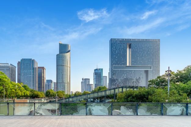Edificios modernos en hangzhou, china