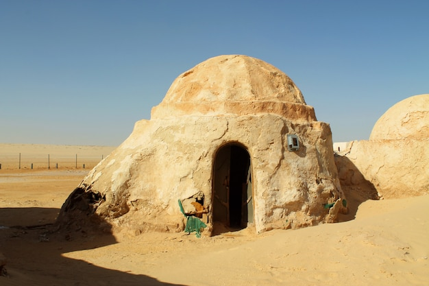 Edificios para la película star wars en el desierto del sahara