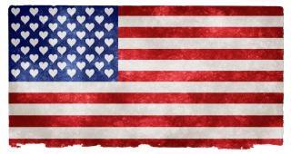 Ee.uu. amor grunge bandera