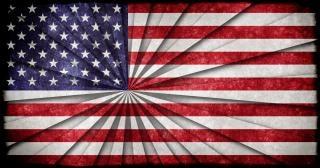 Ee.uu. bandera del grunge grungy