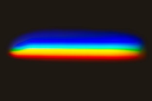 Efecto de fuga de luz sobre un fondo negro.