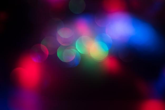 Efecto de iluminación bokeh brillo fondo abstracto borroso colorido