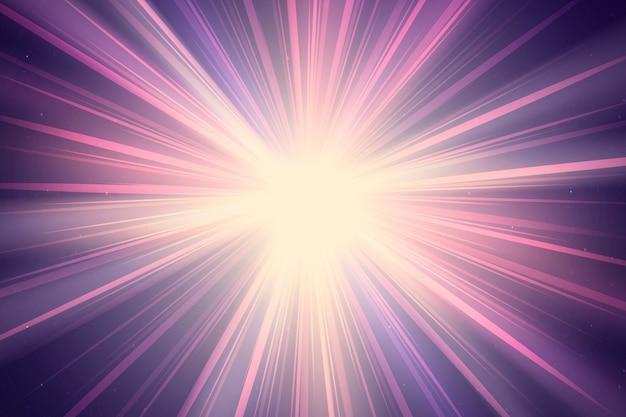 Efecto de iluminación de rayos de sol púrpura abstracto