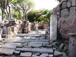 Egas-griego antiguo de la ciudad