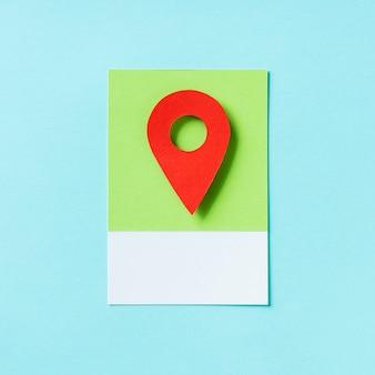 Ejemplo del icono del marcador de la ubicación del mapa