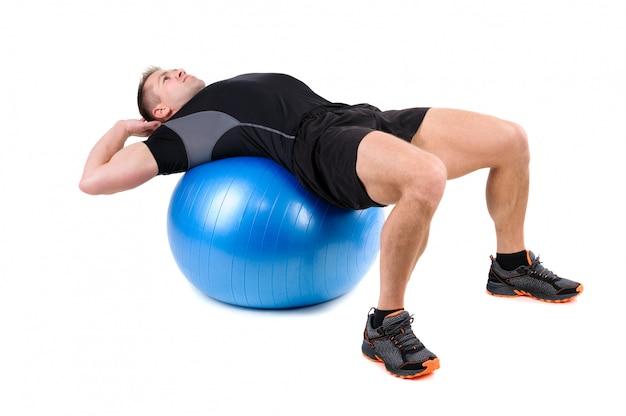 Ejercicios abdominales de fitball