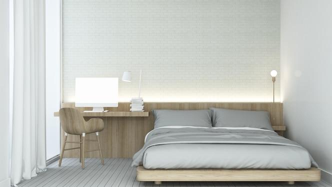 El espacio del dormitorio interior en el hotel