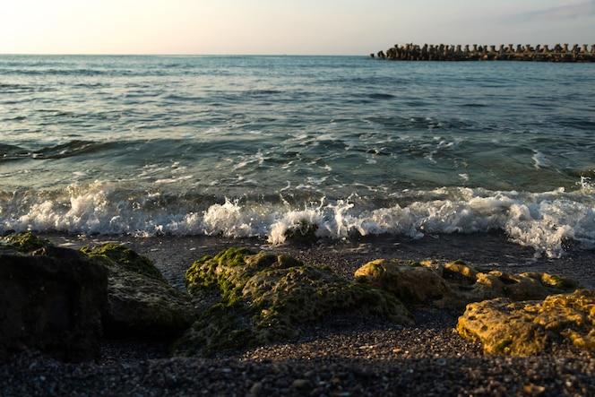 El paisaje marino del mar negro